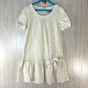 Juicy Couture Ivory Lace Girls Dress Dropped Waist